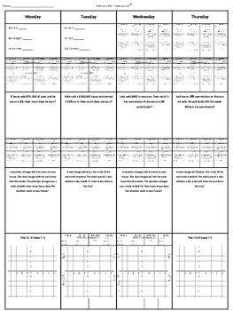 Spiral Homework (7th grade Math) #4
