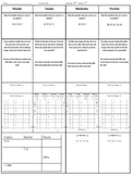 Spiral Homework - Set of 9 - Bundle (8th Grade Math)