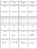 Spiral Homework #1 (8th Grade Math)