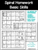 Spiral Homework – Basic Skills