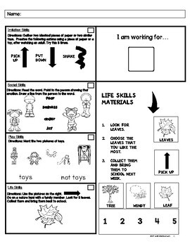 Social Skills Homework (Special Education Support & Life Skills)