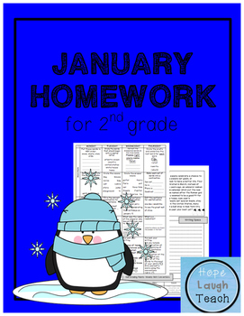 2nd Grade Spiral Language Arts Homework- January