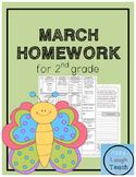2nd Grade Spiral Language Arts Homework- March