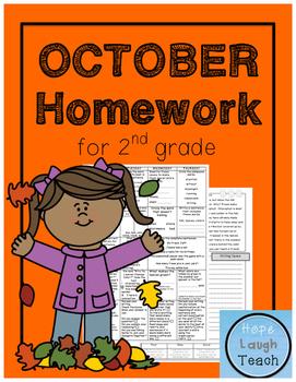 2nd Grade Spiral Language Arts Homework- October