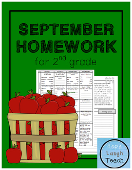 2nd Grade Spiral Language Arts Homework- September