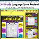 3rd Grade Language Homework 3rd Grade Morning Work Spiral Review FREE