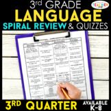3rd Grade Language Homework 3rd Grade Morning Work 3rd Qua