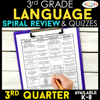 3rd Grade Language Homework 3rd Grade Morning Work 3rd Qua