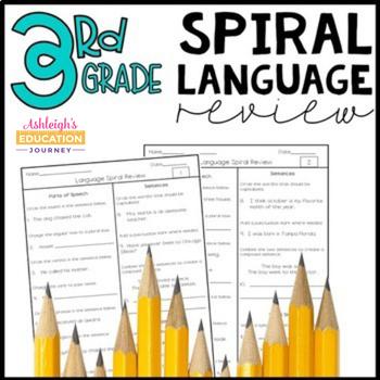 3rd Grade Spiral Language Review - Grammar Practice