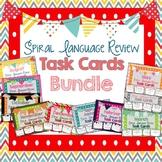 Spiral Language Review Task Cards - Bundle