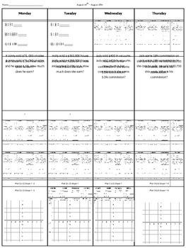 Spiral Homework #4 (8th Grade Math)