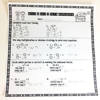 Third Grade Math Homework Quarter 1