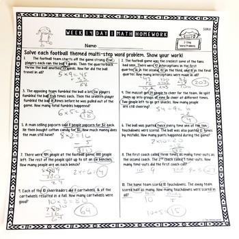 Third Grade Math Homework Quarter 2