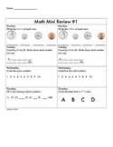 Spiral Math Mini Review 1-9