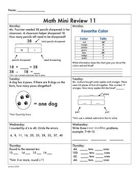 Spiral Math Mini Review 10-18