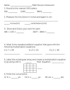 Spiral Math Review 2