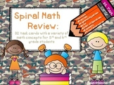 Spiral Math Review:  32 Task Cards