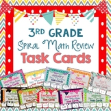3rd Grade Spiral Math Review Task Cards