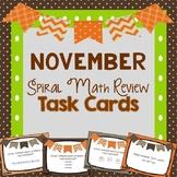 Spiral Math Review Task Cards-November