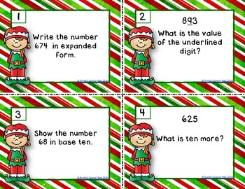 Spiral Math Review With a Christmas Twist