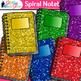 Spiral Notebook Clip Art {Back to School Supplies Graphics for Journals} 2