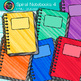 Spiral Notebook Clip Art {Back to School Supplies Graphics for Journals} 4