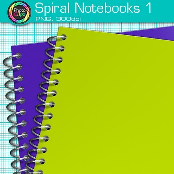 Spiral Notebook Clip Art {Back to School Supplies for Writing Resources} 1
