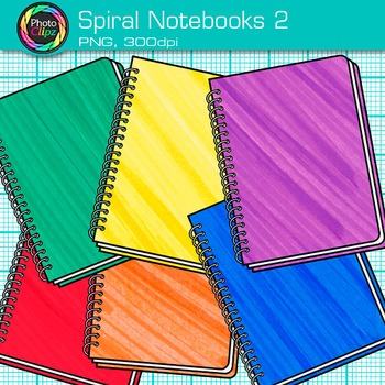 Spiral Notebook Clip Art {Back to School Supplies for Writing Resources} 2