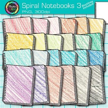 Spiral Notebook Clip Art {Back to School Supplies for Writing Resources} 3