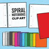 Spiral Notebooks Clip Art