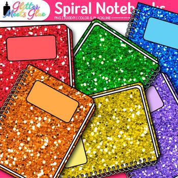 Spiral Notebook Clip Art {Back to School Supplies Graphics for Journals} 1