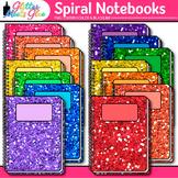 Spiral Notebook Clip Art | Back to School Supplies Graphics for Journals 1