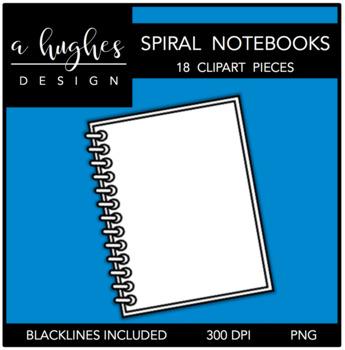 Spiral Notebooks Clipart [Ashley Hughes Design]