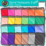 Rainbow Spiral Notepad Clip Art {Back to School Supplies for Writing Resource} 2