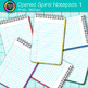 Opened Spiral Notepad Clip Art {Back to School Supplies for Writing Resources} 1