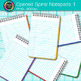 Opened Spiral Notepads Clip Art 1 - Back to School Supplie