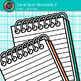 Opened Spiral Notepad Clip Art {Back to School Supplies for Writing Resources} 2