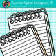 Opened Spiral Notepad Clip Art {Back to School Supplies fo