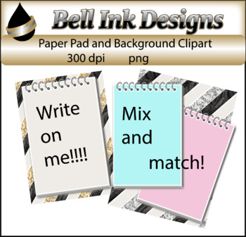 Spiral Pad and Background Clipart