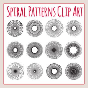 Spiral Patterns Similar to Spirograph Clip Art Set for Com
