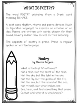 Poetry: Weekly Spiral Review