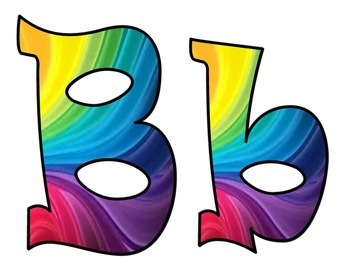 Spiral Rainbow Bulletin Board Letters