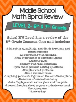 Spiral Review HW