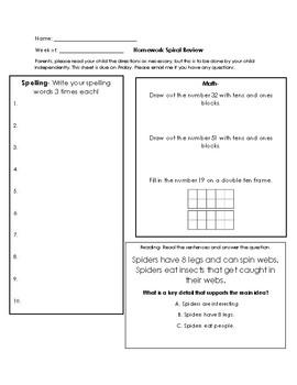 Spiral Review Homework Set 3