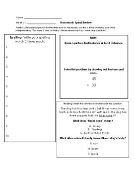 Spiral Review Homework Set 4