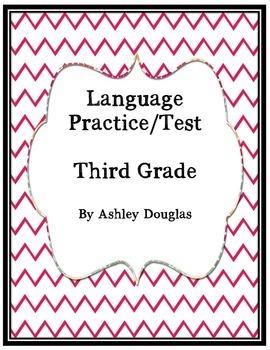 Language/ Grammar test end of year