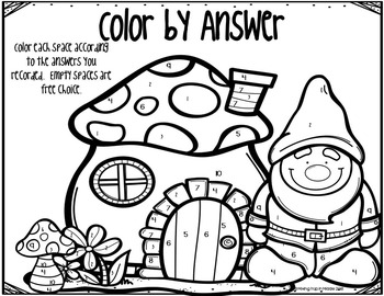 Spiral Review Math Word Problem Color by Answer FREEBIE