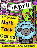 Math Task Cards April 1st Grade Math