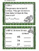 Math Task Cards November 1st Grade Math