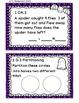 Math Task Cards October 1st Grade Math